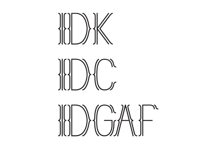 IDK IDC IDGAF Shirt